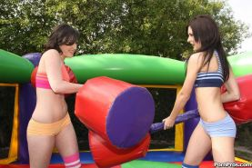 Candace and Jennifer are two naughty teens who love sharing a big cock