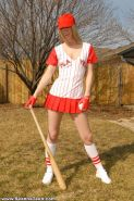 Pictures of Seanna Teen playing baseball naked