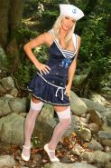 Pictures of a blonde Sailor babe giving you a hot tease