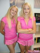 Hot twin sisters Cali and Cherish share one super lucky guy in bed