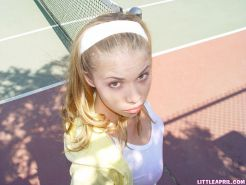 Little April does a non nude tease at the park