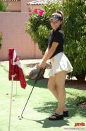 Pictures and Screencaps of Josie Junior playing golf with no clothes on