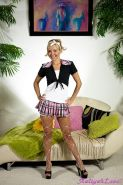 Pictures of Aaliyah Love dressed as one crazy hot schoolgirl