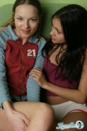Ivana and Kamilla undress each other