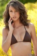Beautiful girl Malena Morgan strips off her bikini and shows you her tight pussy