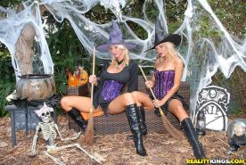 Pictures of Molly and Jana Cova getting freaky this Halloween
