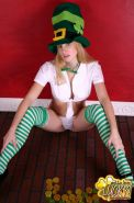 Pictures of Gotta Love Lucky being a leprechaun for Halloween