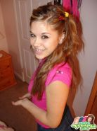 Teen Topanga in pigtails and a short mini skirt