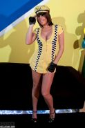 Pictures of BellaXoXo dressed as a hot cab driver