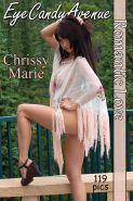 The amazing Chrissy Marie outside and showing it all