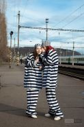 Pictures of Ariel escaping from prison with her friend