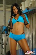 Karla Spice strips to her bra and panties