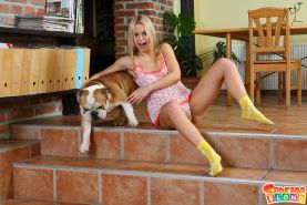 Pictures of teen babe Sabrina Blond getting fucked hard doggystyle