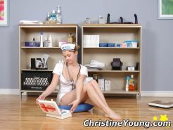Sexy young nurse Christine Young