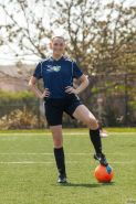 Redhead coed Bailey Rayne is a litlte cock-tease while playing soccer