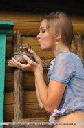 Hot country girl Bridgit A gets naughty on the farm