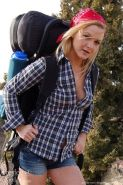Hot girl Shaylee invites you on a backpacking trip in the mountains