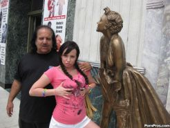 Dirty old guy Ron Jeremy vs the tight teen pussy of Lindy Lane