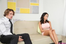 Ariella Ferrera and counselor Cassidy Klein seduce their man for a hot and wild threesome